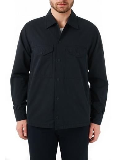 Hugo Boss  % 100 Pamuklu Oversize Fit Cepli Gömlek Erkek Gömlek 50450145 001 Siyah